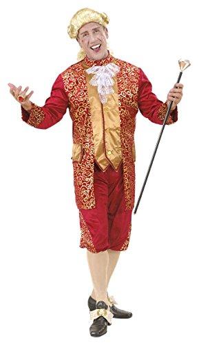 Edelmann Italienische Kostüm - Bordeaux Marquis Male Costume, Size M (Kostüm)