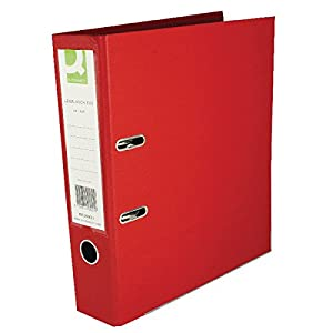 Q-Connect KF20021 Lever Arch File A4 Polypropylene - Red (Pack 10)