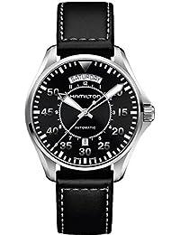 Hamilton H64615735 - Reloj de cuarzo para hombre, correa de cuero, color negro