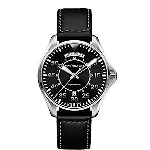 Hamilton H64615735 – Reloj de cuarzo para hombre, correa de cuero, color negro