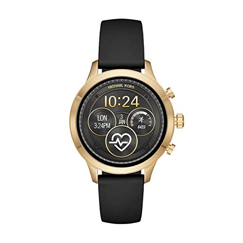 Michael Kors Womens Digital Connected Wrist Watch with Silicone Strap MKT5053