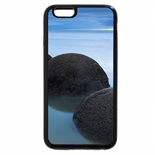 Case (Black) boulders like bowling balls (Black Bowling Ball)