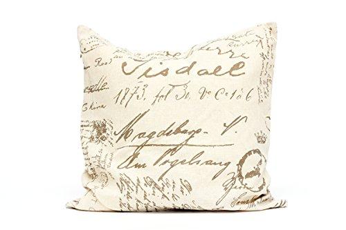 Kissenbezug Enrik 40x40cm Sofa Kissenhülle Shabby Vintage alte Schrift Nostalgie Kissen Dekokissen