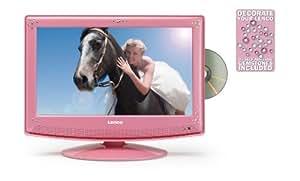 lenco dvt 1533 tv lcd 15 4 avec lecteur dvd int gr 720p tnt hdmi usb rose tv vid o. Black Bedroom Furniture Sets. Home Design Ideas