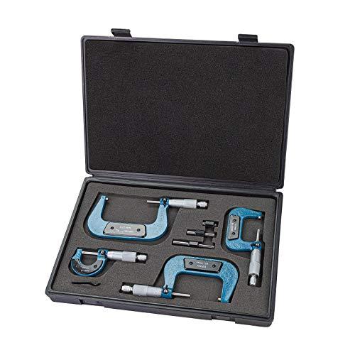 """0-4 /""""0-100mm 0,01mm Premium Außen Mikrometer Set Maschinist Werkzeug Präzision"""