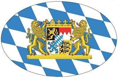 Autoaufkleber Wappen Fahne Bayern Löwen NEU Aufkleber (Löwen Auto Aufkleber)