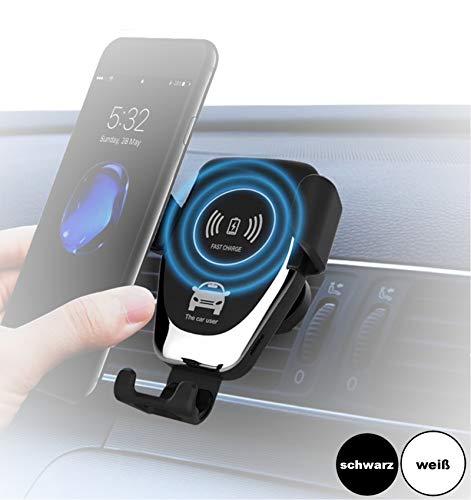 Auto-Handyhalterung mit kabellosem Ladegerät, Wireless Car Mount Charger, Induktionsladegerät für alle iPhone, Samsung Galaxy, Huawei, LG mit Qi Standard -