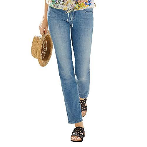 Angels Stretch Jeans (Angels 332 8000 31 Dolly Damen Jeans in Five-Pocket-Form gerades Bein Stretch, Groesse 46/32, hellblau denim)