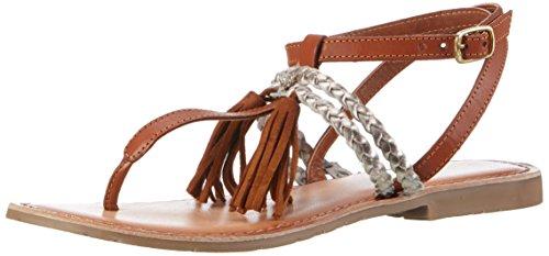 Marco Tozzi Premio Damen 28129 Ankle Strap Sandalen, Braun (Cognac Comb 392), 38 EU