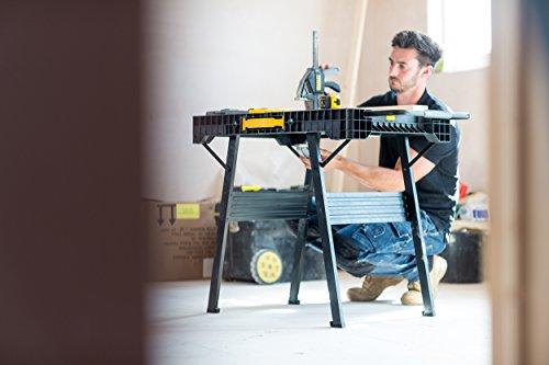 Stanley FatMax klappbare Werkbank / Express Werkbank (bis 455kg belastbar, mit Metallbeinen für höchste Stabilität, große Arbeitsfläche, mit praktischem Tragegriff, für schnellen Aufbau) FMST1-75672 - 6