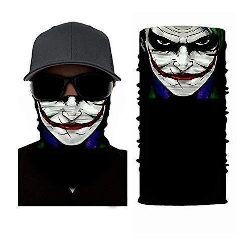 The Joker Maschera Design - Maschera, Scaldacollo, Sciarpa scaldacollo - Ruffnek multifunzione sciarpa/Retina per capelli - Taglia unica da uomo, Donna & bambini