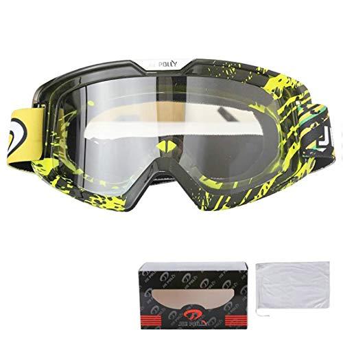 Bishilin Motorradbrille Herren Damen Skibrille Brillenträger Stil 10 Arbeitsbrille Antibeschlag Schutzbrille