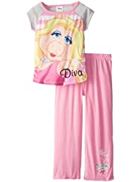 Komar Big Girls'  Muppets Miss Piggy Diva 2 Piece Pajama Set