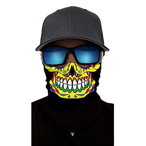 AimdonR Schädel Kopfmaske, Kopfbedeckung, Haarband, Wear Over 10 Ways, Reitsmaske, Sonnenschutz dress up