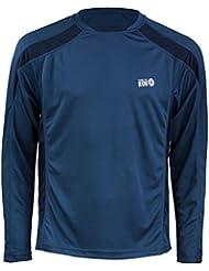 Time to Run Pace tee-shirt de running à col fermeture éclair à manches longues pour hommes