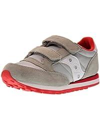 SAUCONY SC57791 JAZZ DBLE HL grigio rosso scarpe bambino strappi unisex 6539d230b1f