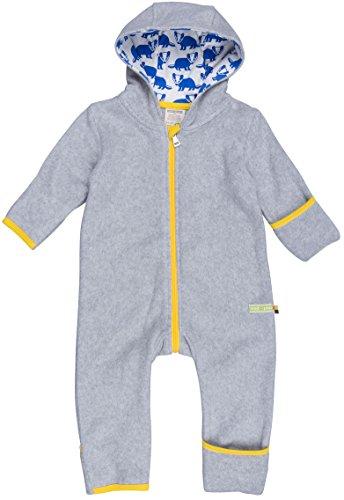 loud + proud Unisex Baby Schneeanzug Overall Fleece, Grau (Grey Gr), 56 (Herstellergröße: 50/56)