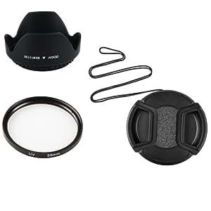58mm Pare-Soleil+Bouchon Objectif+UV Filtre Pour Nikon Canon