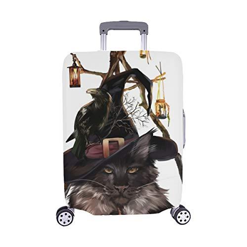 Halloween Catdemon Malerei Spandex Trolley Reisegepäck Beschützer Koffer Cover 28,5 X 20,5 Zoll
