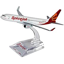 Spice Modello Small Boeing 737-800 Series Metal SpiceJet Aircraft (White)