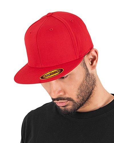 Adult Premium 210 Flexfit Fitted Cap Red red Size:S/M by Flex fit 210 Flex Cap