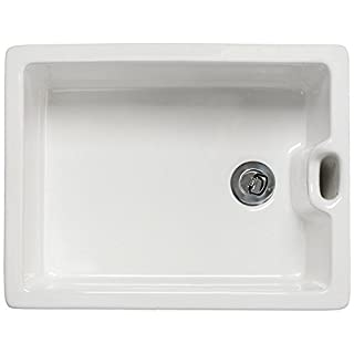Astini Belfast 100 1.0 Bowl White Ceramic Kitchen Sink & Plug Waste