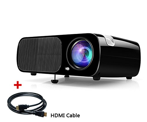 41CgGjoUYCL - BEST BUY #1 HD Video Projector, Ogima Home Cinema Theater Projector BL20, 2600 Lumens Video LCD Projector Supports 1080P Full HD VGA / HDMI / USB / SD / AV Input LED Mini Projector with FREE HDMI Cable , 1 Year Warranty (BL20-Black) Reviews and price compare uk