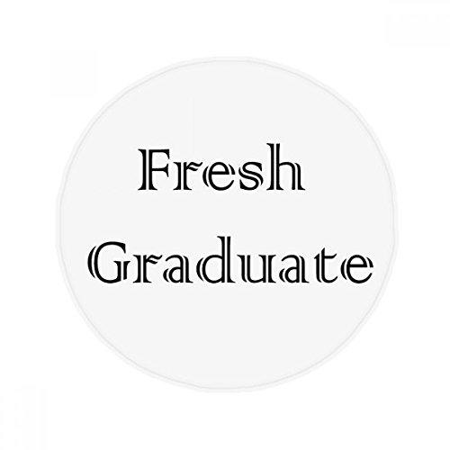 Universität Tür (DIYthinker Fresh Graduate von der Universität Anti-Rutsch Boden Pet Matte rund Badezimmer Wohnzimmer Küche Tür 80cm Geschenk)