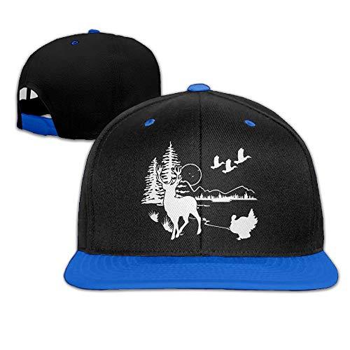 Herren Damen Baseball Caps,Hüte, Mützen, Mens/Womens Hip-hop Hats Wildlife Scene Silhouette Adjustable Baseball Caps -