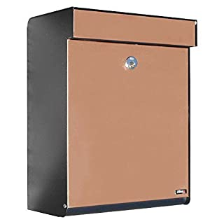 Qualarc ALX -GRM-BC Allux Series MailBoxes Grandform, Black/Copper by Qualarc