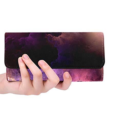 Einzigartige benutzerdefinierte Farben Serie ausgefallene Farbe besteht aus Frauen dreifach gefaltete Brieftasche Lange Geldbörse Kreditkarteninhaber Fall Handtasche