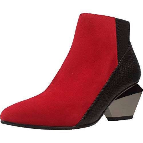 Bottines - Boots, Couleur Rouge, Marque United Nude, Modã¨Le Bottines - Boots United Nude Jacky Rouge
