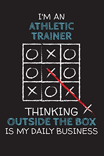 Custom Athletic Shirts (I'm an ATHLETIC TRAINER: Thinking Outside The Box - Blank Dotted Job Customized Notebook. Funny Profession Accessories. Office Supplies, Work ... Retirement, Birthday & Christmas Gift.)