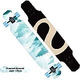 SYCHONG Collezione Longboard | Skateboard da 47 Pollici | Tavola in Acero | Crociera, Intaglio, Danza, Stile Libero,B