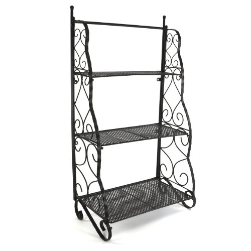 Plant theatre herb and flower stage metal traditional design - black