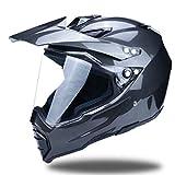 Off-Road Full Face Motorradhelm, Erwachsene Anti-UV-Linse Flip Up Motorradhelm, Moto Motorcross...