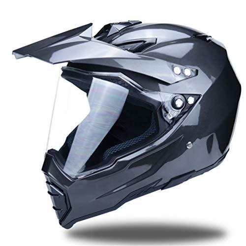 Off-Road Full Face Motorradhelm, Erwachsene Anti-UV-Linse Flip Up Motorradhelm, Moto Motorcross Safety Caps 55-62cm