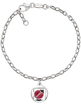 Herzengel Mädchen-Charm-Armbänder 925 Sterlingsilber HEB-08LUCK