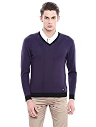Arrow New York Mens Sweater (AKMY8397_Purple_Large_FS)