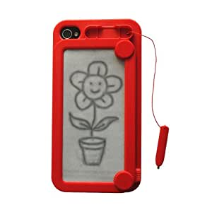 Coque Ardoise magique Ifoolish rouge pour iPhone 4 / 4S