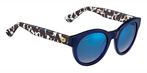 Gucci Für Frau 3763 Blue / White Red Blue Web / Grey, Multilayer Gradient Kunststoffgestell Sonnenbrillen (Web Gucci)