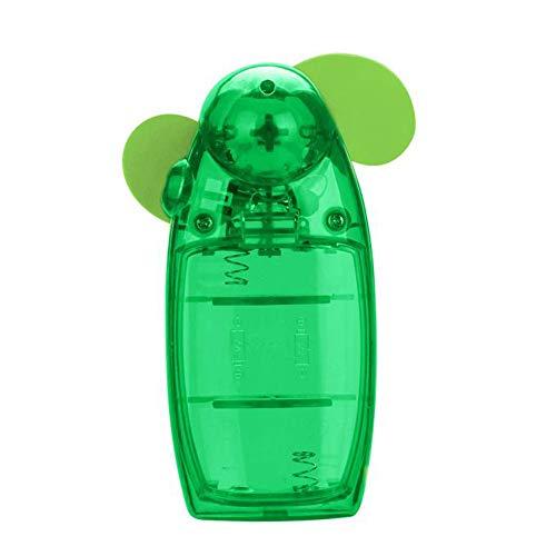 YEARNLY Taschenventilator: Batterie-betriebener Mini-Hand- und Taschen-Ventilator, Weiß, Blau, Lila, Grün (Mini Ventilator batteriebetrieben)