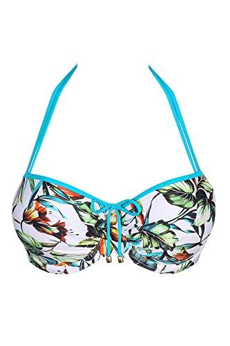 6e08366151881f Primadonna Top de bikini - Sin tirantes - Básico - para mujer Tropical  Garden 70G