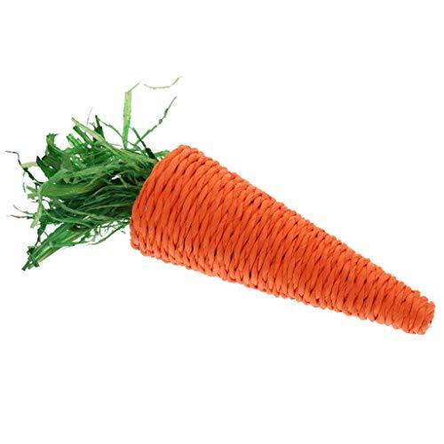perfk Karotte Kauspielzeug Zahnpflege Spielzeug für Kaninchen, Hasen, Hamster, Meerschweinchen -