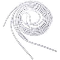 Cordones de zapato - TOOGOO(R) Cordones de cuerda redonda 3M reflectante de zapatos de carrera (estilo-B blanco)
