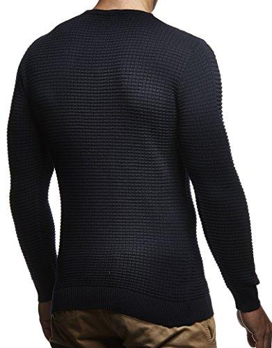 c69f66106484 ... LEIF NELSON Herren Pullover Strickpullover Hoodie Basic Rundhals Crew  Neck Sweatshirt longsleeve langarm Sweater Feinstrick LN1545
