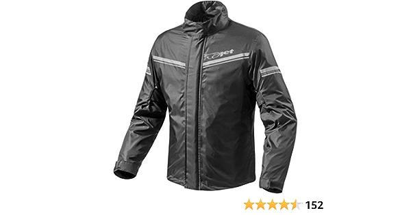 JET Moto giacca da pioggia con custodia per il trasporto M, Nero