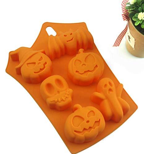 (TLZR Kuchen Schimmel Silikon Halloween Dekoration Kürbis Kuchen Formen Backen Werkzeuge)