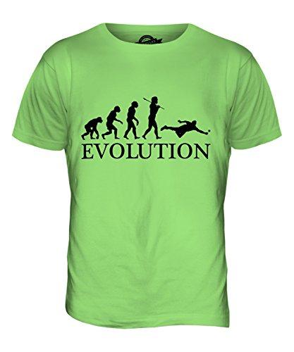 CandyMix Cricket Fielder Evolution Des Menschen Herren T Shirt Limettengrün