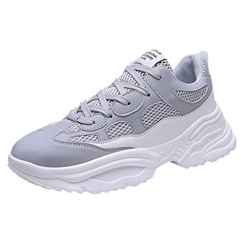 REALIKE Herren Sneaker Mesh Schnürer Sportschuh Ultraleichte Laufschuhe Freizeitschuhe Atmungsaktiv Leicht Sportlich EU 39-44 Geeignet für drinnen und draußen Bergsteigen Lauftraining